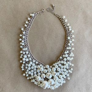 Pearl Handmade Statement Necklace